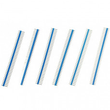 40 Pin Headers - Straight (Blue)