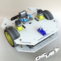 CNC LAB 2WD Robot Kit