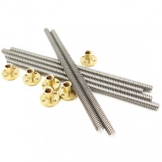 T8x350mm trapezoidal Lead Screw with Brass Nut