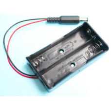 2x Battery holder with DC connector