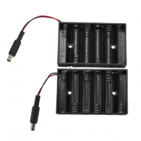 6 AA Battery Holder with DC connector