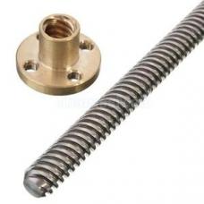 T8x300mm trapezoidal Lead Screw with Brass Nut