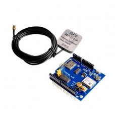 GPS Shield record expansion module SD slot card With Antenna