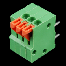 Spring Terminals - PCB Mount (3-pin, right-angle)
