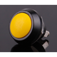Yellow 12mm Electric Domed Head Momentary Push Button