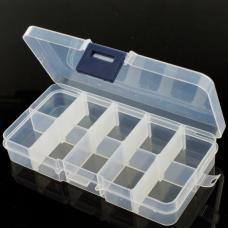 Adjustable Compartment Parts Box - 10 compartments