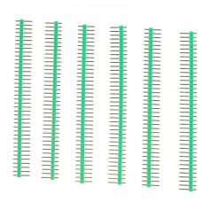 40 Pin Headers - Straight (Green)