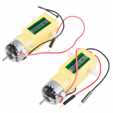 Hobby Gearmotor - 200 RPM (Straight, Pair)