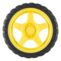 Wheel - 65mm (Rubber Tire, Pair)